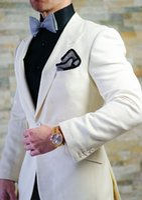 Wholesale Men S Marriage Suits - New Arrivals Ivory Men Suits Slim Fit Tailor Made Groom Prom Dress Tuxedo Costume Marriage Homme 2 Piece Blazer Jacket+Pants