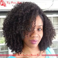 Wholesale silk top glueless wig kinky curly online - 4x4 in Silk Top Full Lace Wigs Glueless Kinky Curly Human Hair Mongolian Lace Front Wig Virgin Hair With Silk Base Baby Hair