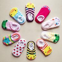 chaussettes bébé chaussures livraison gratuite achat en gros de-10 paires / lot + unisexe bébé Enfants Tout-petit Garçon Fille Chaussettes Anti-Slip Chaussures Chausson Chaussettes bébé Livraison gratuite BY0069