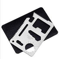 ingrosso strumenti per la sopravvivenza del portafoglio-Mini strumento di carta di credito tasca multi-tasca in acciaio inox portatile di sopravvivenza esterna carta di campeggio strumenti coltello all'aperto attrezzi EDC