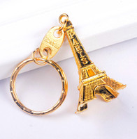 Wholesale paris keychain souvenir resale online - Promotion Eiffel Tower Keychain Party Favors Keys Souvenirs Paris Tour Chain Ring Decoration Holder Wedding Gift