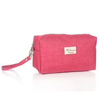 Wholesale make trips - Canvas Women Cosmetic Toiletry Bag Clutch Handbags Makeup Make up Organizer Pouch Bag For Travel Trip Carry-on Companion Zipper