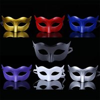 Wholesale black mask face for sale for sale - Group buy New hot sale Simple plastic mask Lacquer a single color mask for the party Plastic mask T4H0253