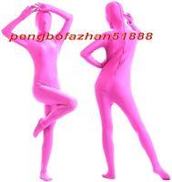 trajes de gatos de gato zentai rosa venda por atacado-Unisex Trajes Terno Do Corpo Completo Outfit Nova Hot Pink Lycra Spandex Terno Catsuit Trajes Unissex Sexy Completa Bodysuit Trajes Outfit P399