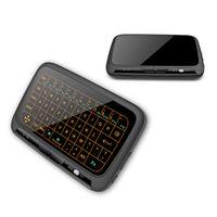 android keyboard qwerty touch großhandel-H18 + 2,4 GHz mini drahtlose QWERTZ-Tastatur in vollem Touchpad Keyboard Großen Touchpad-Fernbedienung für Android TV Box PC Xbox3 PS4