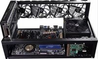ltc miner großhandel-Stahl Bitcoin Miner Fall Bergbau Frame Mining Rig Open Air Unterstützung 6 -8 GPU für BTC LTC ETH Ethereum LLFA
