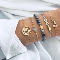 ingrosso braccialetti d'amore in rilievo di colore-Boemia Infinity Love Lettera Sea Turtle Beaded Bracelets for Women Colore oro Pulseras Mujer Moda 2018 Gioielli
