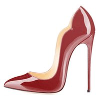 обувь stiletto 43 оптовых-мода 2018 новый Cymn Black Pointed Toe Extreme Высокие каблуки Stiletto Women Pumps Wedding Party Dress Shoes размер 34-43