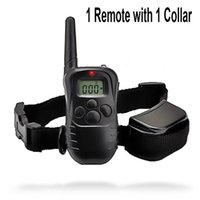 Wholesale Remote Shock Collars - Waterproof 1000 Yard Dog Vibra Shock Training Collar Pet Trainer With Remote 4 Modes 300m