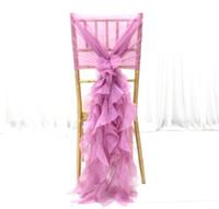 düğün zencefil tül toptan satış-Elegance Şifon Sandalye Kanat Tül Chiavari Sandalye Kanat Sandalye Kapak Dışarı Kapı Düğün Ziyafet Dekorasyon için
