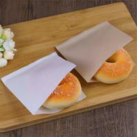 bolsas para empacar pan al por mayor-2500pcs 12x12cm Sandwich Donut Bread Bag Biscuits Donut Bolsas de papel de color sólido Pan a prueba de aceite Craft Bakery Food Packing Kraft