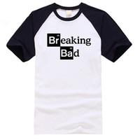 124bb6444aca Men s raglan T-shirt Walter White Tops Cotton O-Neck Heisenberg Men T-shirt  Short Sleeve Casual Breaking Bad Print T Shirt For Men