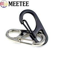 Wholesale backpack clasp resale online - Meetee Metal Key chain Clipper hang Hook Outdoor Equipment Alloy Carabiner Backpack clasp Fast Characters Bag Buckle clamp