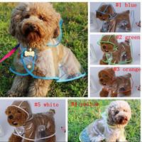 ropa lluvia perros al por mayor-Chaqueta impermeable impermeable para perros Chaqueta de lluvia impermeable para perros Chaqueta impermeable para el exterior Cachorro de perro Ropa impermeable para perros LJJM3