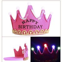 ingrosso corone di corone di re-Festa di compleanno delle stelle luminose Principe delle principesse King Cappellino per le feste di Natale Festa dei bambini di aprile