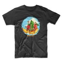 camiseta de frutas al por mayor-Vegan Happy Fruit Funny Man's T-Shirt Cool Casual orgullo camiseta hombres Unisex Nueva moda camiseta Loose Size top ajax