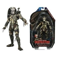 "Wholesale Predator Toys - Free Shipping Neca Predator Series 8 Classic Predator 25th Anniversary Jungle Hunter Pvc Action Figure Model Toy 8 ""20cm #Zjz002"