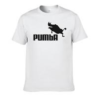 fresco, divertido, al por mayor-2016 camiseta divertida camisetas lindas homme Pumba hombres de manga corta tops de algodón camiseta fresca traje de camiseta de verano camiseta # 062
