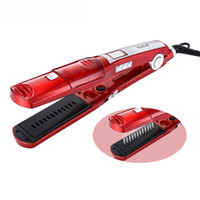 Wholesale digital electric heating for sale - Ceramic Steam Hair Straightener Professional Flat Iron Vapor Spray Straightening Iron Hair Iron Fast Heating Styling Tool