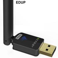 usb wifi adaptador edup venda por atacado-adaptador usb EDUP WiFi 150Mbps alto ganho 6dBi Antena WiFi 802.11n longa distância receptor USB Wi-Fi Ethernet placa de rede