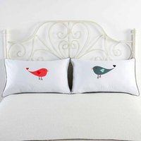 Wholesale gift pillow love - Cilected Love Hubby Pattern Mr Mrs Decorative Pillowcase White Color Valentine S Day Gifts Pillow Case For Bedding Anime Pillow
