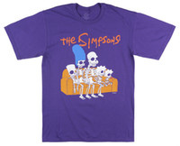 Wholesale funny gifts free shipping resale online - THE SIMPSONS FAMILY SKELETONS T SHIRT PURPLE MENS HALLOWEEN RETRO TV XL I197 Funny Unisex Casual gift