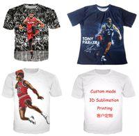 Wholesale Fashion Couple T Shirts - New Fashion Couples Men Women Unisex USA Basketball Star Funny 3D Print No Cap Casual T-Shirts Tee Top Wholesale T186