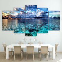 Wholesale sunrise painted walls - HD Printing Top-Rated Canvas Painting Sea Sunrise Landscape Modern Poster Wall Art Picture Home Decoration For Living Room Drop Shipping