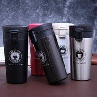 termo de botella de té al por mayor-Taza de café de viaje de alta calidad Vaso de Thermos de acero inoxidable tazas de frasco de vacío termo Botella de agua de té Taza Thermocup