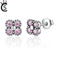 Wholesale beautiful girl earring - Hot Authentic 925 sterling silver zircon Beautiful earrings Butterfly knot silvery Fashion earrings Young girls Luxury earrings