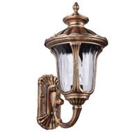 eski dış mekan lambaları toptan satış-Avrupa tarzı duvar lambası avlu antika villa bahçe duvar lambası açık su geçirmez balkon koridor merdiven led duvar lambası