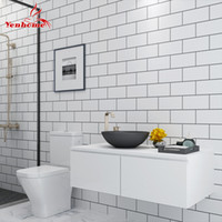 telha de cozinha auto-adesiva papel de parede venda por atacado-5 M Cozinha Moderna Telha Adesivo Banheiro Auto-adesivo à prova d 'água Papel De Parede Sala de estar Quarto Vinil PVC Home Decor Adesivo De Parede