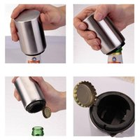 Wholesale bar used bottle resale online - Beer Bottle Opener Magnetic Automatic Stainless Steel Corkscrew Easy To Use For Kitchen Bar Exquisite Easy Carry mx cc