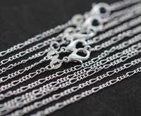 925 italien silberne halskette großhandel-2018 Klassische heiße Verkäufe Feine 925 Sterling Silber Halskette 2 MM 16-30
