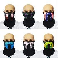 productos de decoración de iluminación al por mayor-Productos EL Máscara de montar a caballo Máscara intermitente Luz fría Máscara de control de máscaras Máscaras LED Fiesta de la noche regalo de la decoración 25xl WW