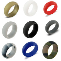 Wholesale men's wedding rings for sale - Luxury Silicone Wedding Rings Women s Hypoallergenic O ring Band Comfortable Lightweigh Men Ring for Couple Fashion Design Jewelry in Bulk