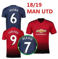 Wholesale man united shirt - 2018 2019 Premier League ALEXIS LUKAKU POGBA MAN MARTIAL UTD LINGARD RASHFORD Soccer Jersey Custom Home Away 18 19 united Football Shirt