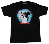 ingrosso immagini per la moda camicia-New T-shirt Uomo Fashion Magliette Gremlins Mens T-shirt - Full Color Gizmo Photo Image Over Red Name