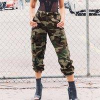 ingrosso jogger pantaloni donne esercito-New Pattern Joggers Women Summer Camo Pantaloni casual mimetici Pantaloni militari militari Pantaloni di cotone dritto Pantaloni cargo di capri