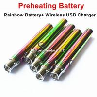 rainbow vaporizer großhandel-Neue Rainbow Vorheizbatterie 350mah Vorheizung vs Touch Vape O Stift variable Spannung 4.1-3,9-3,7V Vorheizen Öl Verdampfer Batterie