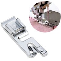 Wholesale brother machine feet resale online - 150Pcs Rolled Crimping Sewing Machine Foot Curling Hem Brothers Presser Walking Foot for Home Sewing Machine Parts