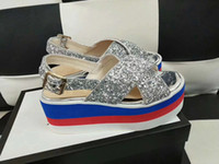 Wholesale flat fashion sandals for ladies - luxury brand women designer sandals Embroidered velvet sequins waterproof bee star with top quality fashion lady shoes for summer size 35-41