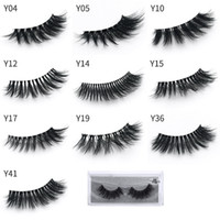 ingrosso y capelli-10 Stili 3d Ciglia di visone Natural Long Thick False Eye Lashes Trucco occhi Make Up Extension per ciglia Visone Capelli Ciglia finte Serie Y