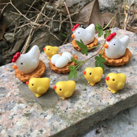 Wholesale garden craft kids resale online - High Quality Resin Arts Crafts Fairy Garden Miniatures Micro Landscape Decor Kids Christmas Gift Family Chickens Animal Ornament wq jj