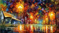 paisaje cuchillo pinturas lienzo al por mayor-100% pintado a mano cuchillo pintura al óleo sobre lienzo Leonid Afremov paisaje lienzo art deco pinturas al óleo hermosas obras de arte pinturas decoración