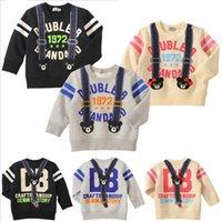 ingrosso maglione felpe con cappuccio bambini-Top manica lunga per bambini Fashion Design 100% cotone Handson Baby Outwear Warm Soft Spring Hoodies Boy Girls Maglioni