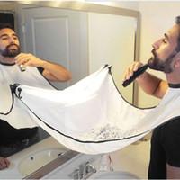 bichos coletores venda por atacado-Barbear pano guarnição limpeza barba bib Avental Reunir Bigodes Pano Bib Aparas de Pêlos Faciais Catcher Cape Sink
