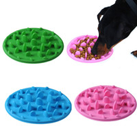 Wholesale travel weights - Sillicone Dog Cat Slow Eating Feeder Anti Choke Pets Bowl Prevent Obesity And Gulp Weight-loss Plate DDA440