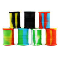 Wholesale food drums - 9ML food grade Non Stick Silicone Oil Drum Barrel Containers Dab Jar Wax silicone wax dab container