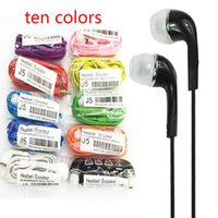 Wholesale S4 Hand - 2018 Headphones for S4 S6 S7 3.5mm In ear earphones earbuds J5 headset Hands-free earphone with Mic control For Samsung s4 cell Phones